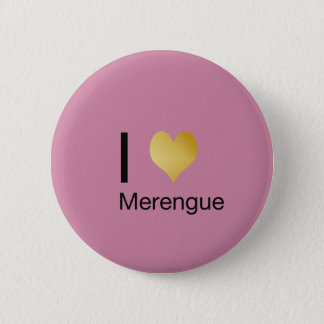 Playfully Elegant I Heart Merengue 6 Cm Round Badge
