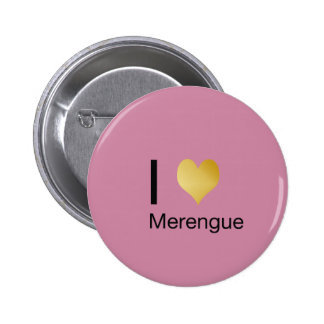 Playfully Elegant I Heart Merengue 6 Cm Round Badge