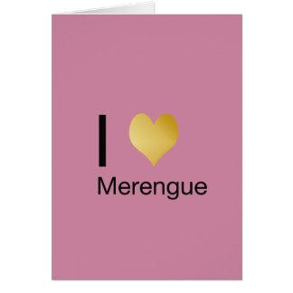 Playfully Elegant I Heart Merengue Card