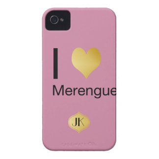 Playfully Elegant I Heart Merengue iPhone 4 Case-Mate Case