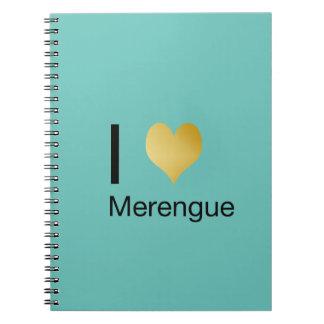 Playfully Elegant I Heart Merengue Notebooks