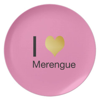 Playfully Elegant I Heart Merengue Plate