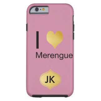 Playfully Elegant I Heart Merengue Tough iPhone 6 Case