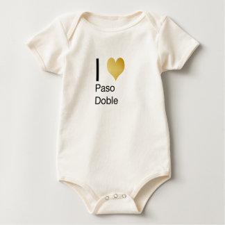 Playfully Elegant I Heart  Paso Doble Baby Bodysuit