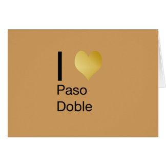 Playfully Elegant I Heart  Paso Doble Card