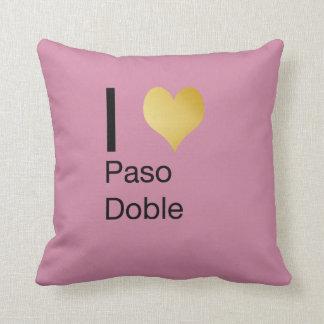 Playfully Elegant I Heart  Paso Doble Cushion