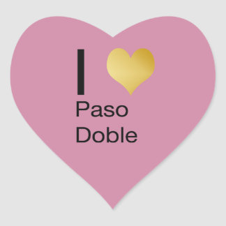 Playfully Elegant I Heart  Paso Doble Heart Sticker