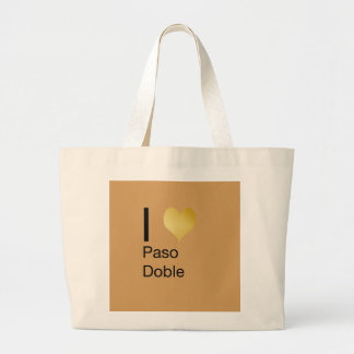 Playfully Elegant I Heart  Paso Doble Large Tote Bag