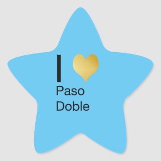 Playfully Elegant I Heart  Paso Doble Star Sticker