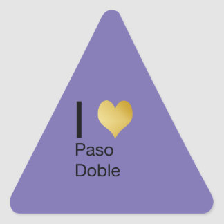 Playfully Elegant I Heart  Paso Doble Triangle Sticker