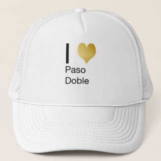 Playfully Elegant I Heart  Paso Doble Trucker Hat