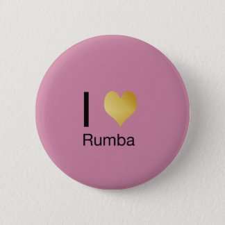 Playfully Elegant I Heart Rumba 6 Cm Round Badge