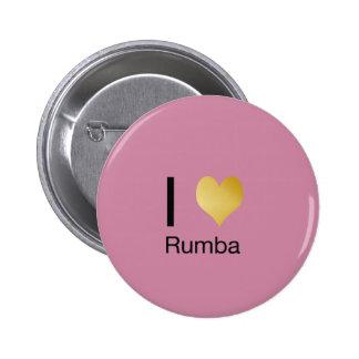 Playfully Elegant I Heart Rumba 6 Cm Round Badge