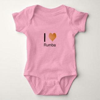 Playfully Elegant I Heart Rumba Baby Bodysuit