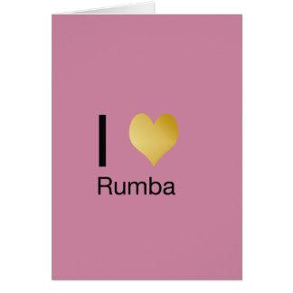 Playfully Elegant I Heart Rumba Card