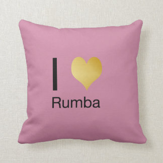 Playfully Elegant I Heart Rumba Cushion