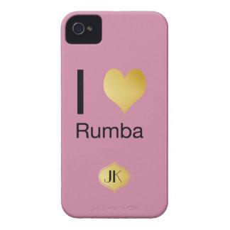 Playfully Elegant I Heart Rumba iPhone 4 Covers