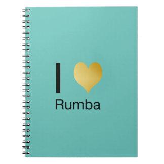 Playfully Elegant I Heart Rumba Notebooks