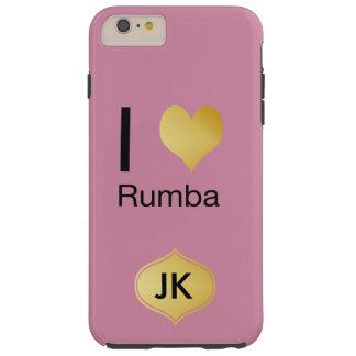Playfully Elegant I Heart Rumba Tough iPhone 6 Plus Case