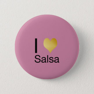 Playfully Elegant I Heart Salsa 6 Cm Round Badge