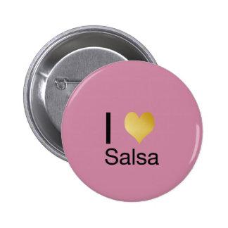 Playfully Elegant I Heart Salsa 6 Cm Round Badge