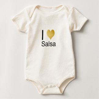 Playfully Elegant I Heart Salsa Baby Bodysuit