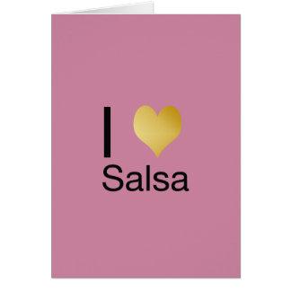 Playfully Elegant I Heart Salsa Card