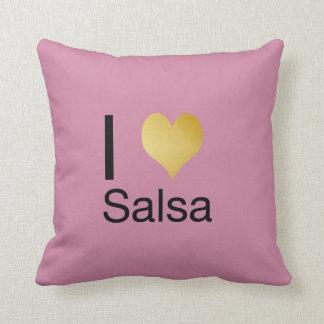 Playfully Elegant I Heart Salsa Cushion