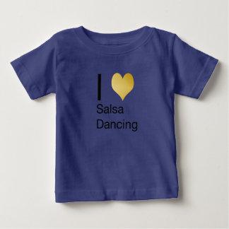Playfully Elegant I Heart Salsa Dancing Baby T-Shirt