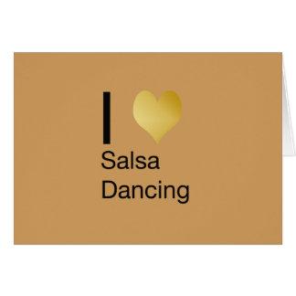 Playfully Elegant I Heart Salsa Dancing Card
