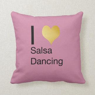 Playfully Elegant I Heart Salsa Dancing Cushion