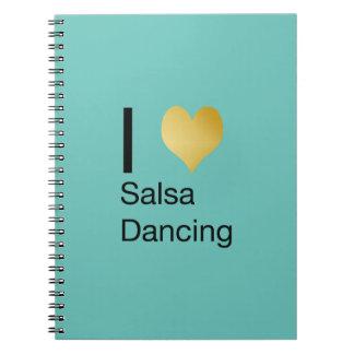 Playfully Elegant I Heart Salsa Dancing Notebook