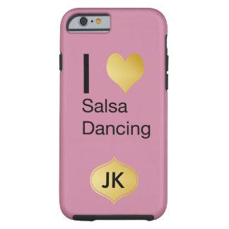 Playfully Elegant I Heart Salsa Dancing Tough iPhone 6 Case