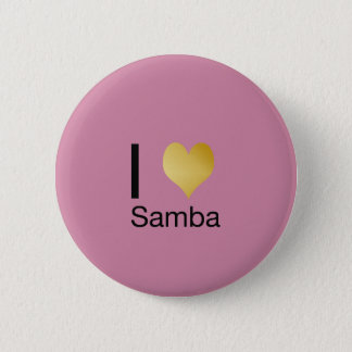 Playfully Elegant I Heart Samba 6 Cm Round Badge