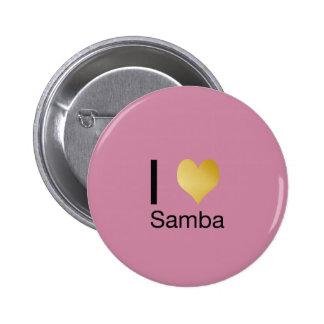 Playfully Elegant I Heart Samba 6 Cm Round Badge