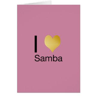 Playfully Elegant I Heart Samba Card