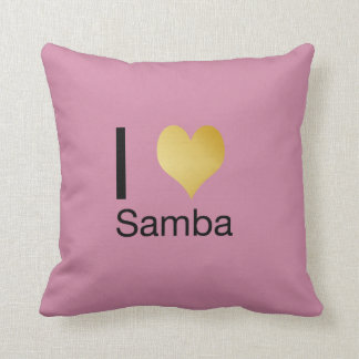 Playfully Elegant I Heart Samba Cushion