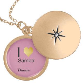 Playfully Elegant I Heart Samba Gold Plated Necklace