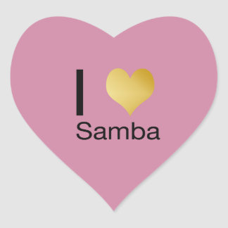 Playfully Elegant I Heart Samba Heart Sticker