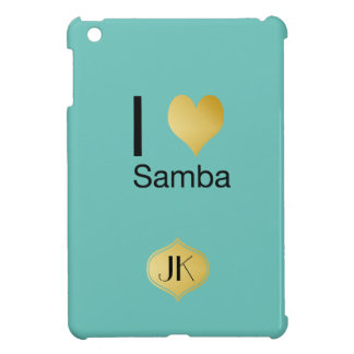 Playfully Elegant I Heart Samba iPad Mini Covers