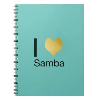 Playfully Elegant I Heart Samba Notebooks