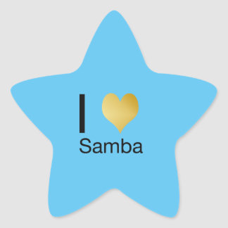 Playfully Elegant I Heart Samba Star Sticker