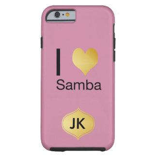 Playfully Elegant I Heart Samba Tough iPhone 6 Case