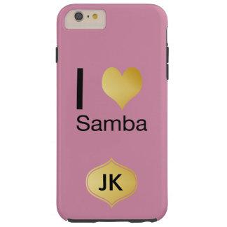 Playfully Elegant I Heart Samba Tough iPhone 6 Plus Case