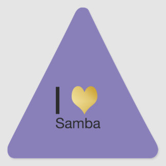 Playfully Elegant I Heart Samba Triangle Sticker