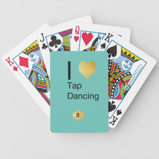 Playfully Elegant  I Heart Tap Dancing Bicycle Playing Cards