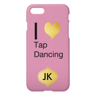 Playfully Elegant  I Heart Tap Dancing iPhone 7 Case