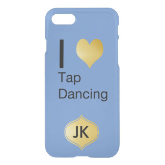 Playfully Elegant  I Heart Tap Dancing iPhone 8/7 Case