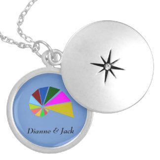Playfully Geometric Snail Locket Necklace