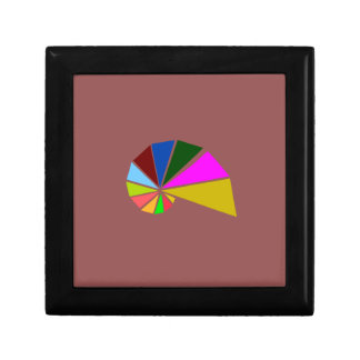 Playfully Geometric Snail Small Square Gift Box